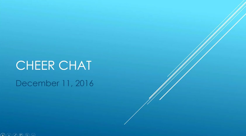 Cheer Chat December 11, 2016