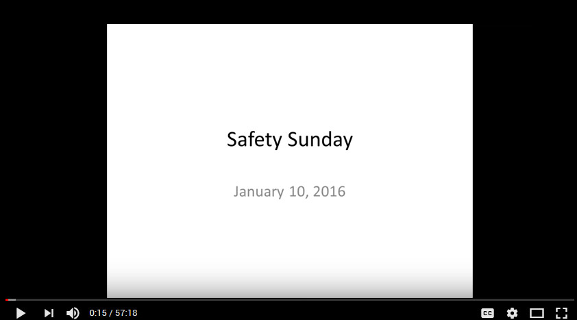 Safety Sunday January 10, 2016