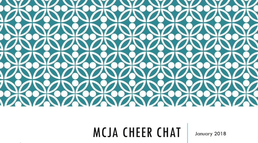 Cheer Chat Jan 14, 2018