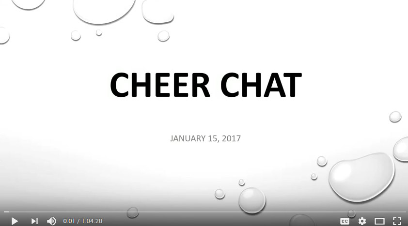 Cheer Chat January 15, 2017
