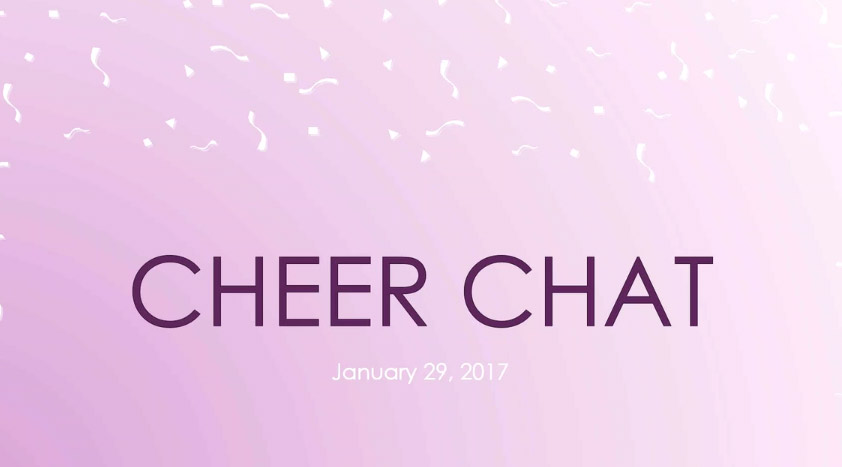 Cheer Chat January 29, 2017
